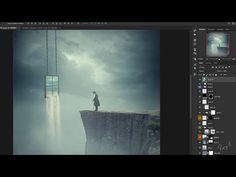 Making Surreal Waterfall Window Manipulation Scene Effect In Photoshop - YouTube