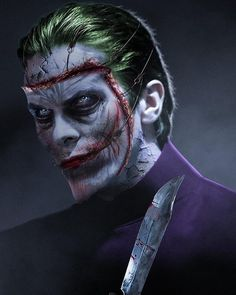 Joker portrayed by Christian Bale (Batman) by BossLogic Joker Batman, Joker Art, Batman Art, Comic Book Characters, Comic Character, Joker Kunst, Dc Comics, Joker Pics, Green Lantern Corps