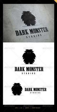 Dark Monster Logo — Vector EPS #pop #dark • Available here → https://graphicriver.net/item/dark-monster-logo/5551813?ref=pxcr