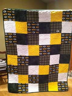 Packer flannel quilt-too bad I can't sew ;-)