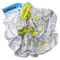 Crumpled City soft city maps by Palomar. Maps designed to survive being screwed up and stuffed into a pocket or bag.