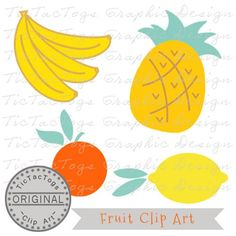 Up for your consideration is my Fruit clip art package which includes Commercial Use for only $0.99