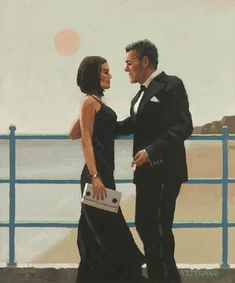 Jack Vettriano  Fools for Love (Study)  Oil on canvas  12 x 10 inches  Signed, Painted in 2011