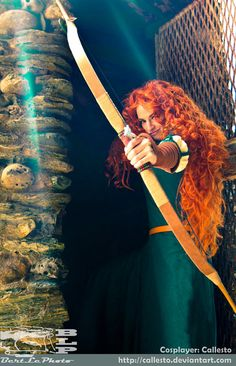 Amazing Merida (from Brave) cosplay...I've been told I should do a Merida cosplay...and I just might!