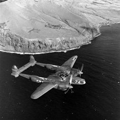 rare alaskan aircraft | 38 Lightning above the Aleutian Islands, Alaska, 1943