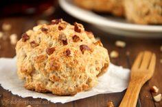 Maple Pecan Scones -- an easy recipe for healthier breakfast pastries!