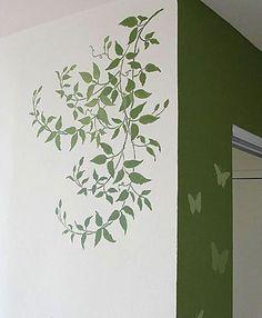 Cutting Edge Stencils - Budding Clematis Stencil. $39.95. See more Flower & Vine Stencils: http://www.cuttingedgestencils.com/stencils-flower-stencil.html >> #flowerstencils #vinestencils