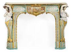 An important colored biscuit porcelain fireplace<br>Paris, circa 1855 | Lot | Sotheby's