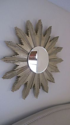 DIY Sunburst Mirror via SecondStreetEast