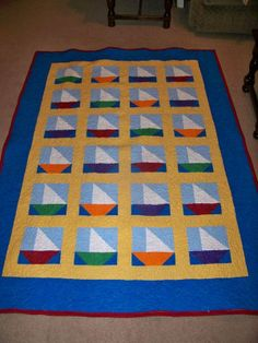 Image detail for -Thread: Grandson's sailboat quilt is finally done!