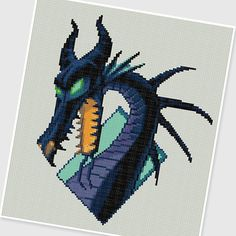PDF Cross Stitch pattern - 0005.Dragon Maleficent - INSTANT DOWNLOAD