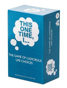 This One Time I… The Game of Ludicrous Life Choices Party Edition Best Adults for sale online Trending Christmas Gifts, Christmas Gift For Dad, Christmas Ideas, Choices Game, Life Choices, Gifts For Your Girlfriend, Gifts For Dad, Games For Men, Drinking Games For Parties