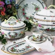 HEREND INDIAN BASKET FINE CHINA DINNERWARE TABLEWAR