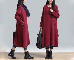 Vestidos maxi - Flor Roja Primavera Patchwork vestido maxi 493 - hecho a mano por MissJuan en DaWanda