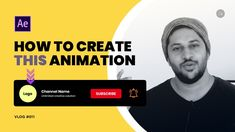 How to Create YouTube Subscribe Animation Button | Adobe After Effects |... Adobe After Effects Tutorials, After Effect Tutorial, Text Animation, Name Logo, Buttons, Create, Youtube, Youtubers, Knots