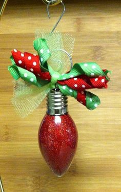 Light Bulb Glitter Ornament