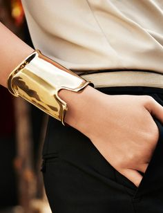 shiny gold cuff