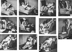 Seeking comfort in an uncomfortable chair, Bruno Munari, ca. 1950