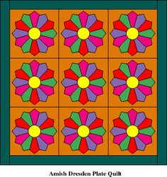 Very Easy Quilt Patterns | Easy Piecing Dresden Plates