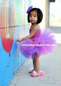 """cutest asian girl dressed in """"Posh Party Tutu from The Sweet Sweet Couture Collection"""" custom made with matching flower headband by ASweetSweetBoutique $40 @Etsy 86480277 • photo by Rochelle Javier"""