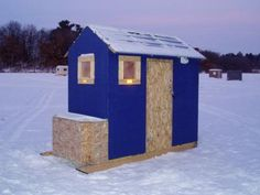diy ice shanty - Google Search Ice Fishing Shanty, Ice Shanty, Ice Fishing Huts, Fishing Shack, Ice Fishing Equipment, Winter Fishing, Ice Houses, Fish House, Shed Homes
