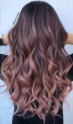 43+ ideas for hair color ideas for brunettes balayage rose gold haircolor #hair