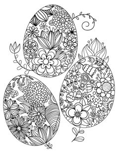Free printable floral Easter egg adult coloring page. Download it in PDF format at http://coloringgarden.com/download/floral-easter-egg-coloring-page/