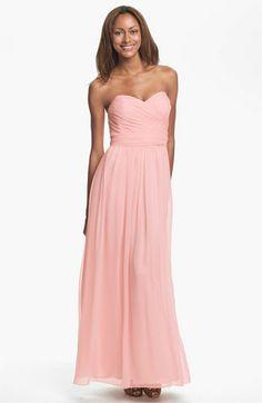 Jill Stuart Strapless Silk Chiffon Sweetheart Gown in light rose $298