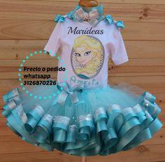 Conjunto tutu Encintado Triple elsa de Frozen Marideas