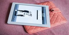 Ipad peach case by New Yorker