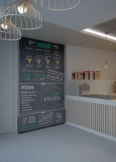 Ice cream parlor interior design in Gliwice POLAND - archi group. Lodziarnia w Gliwicach.
