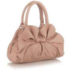 Light Pink Bow Small Grab Bag
