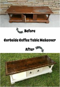 a guest post from Repurposing Junkie Curbside Coffee Table Makeover theboondock Table Makeover coffee Curbside Guest Junkie Makeover Post Repurposing Table theboondock Home Theater Furniture, Wood Bedroom Furniture, Hand Painted Furniture, Refurbished Furniture, Repurposed Furniture, Shabby Chic Furniture, Furniture Projects, Furniture Makeover, Furniture Refinishing