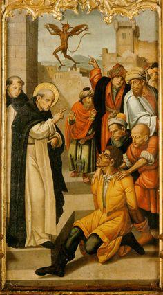 Retablo de San Vicente Ferrer, curación de un endemoniado  (Maestro del Grifó) Paloma Suárez