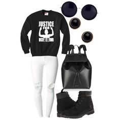 A fashion look from December 2014 featuring (+) PEOPLE jeans, Timberland boots and Mansur Gavriel backpacks. Browse and shop related looks. Timberlands, December 2014, Black Backpack, Timberland Boots, Streetwear Brands, Fashion Looks, Luxury Fashion, Backpacks, Clothes For Women