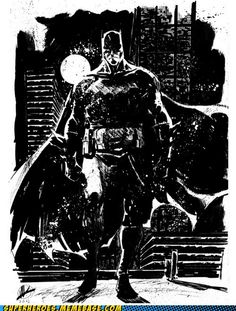 A Dark & Gritty Knight - art by Bill Sienkiewicz (I think)