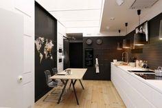 small apartment kitchen design black white kitchen modern minimalist style