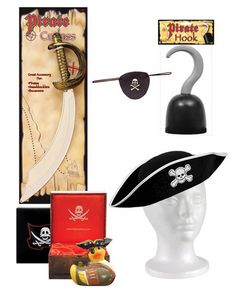 Halloween pirate accessories combo