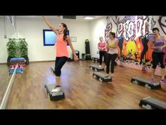 Watch Christi's Super Step in action! Come join us on Wednesday mornings at at Waco Regional Tennis & Fitness for a great workout and lots of fun! Step Aerobic Workout, Step Up Workout, Aerobics Workout, Yoga, Step Aerobics, Zumba Routines, Back Steps, Healthy Exercise, Sweat It Out