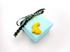 Handmade Bunny Rabbit Gift Tag Easter Gift Add On Gift