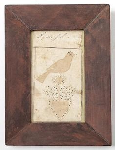 Fraktur Watercolor of Bird