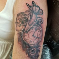 Pocket watch tattoo. My time piece tattoo by maz