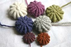 A tutorial for buttons covered in wool yarn from a Shetland designer.  http://katedaviesdesigns.com/2014/02/20/covered-button-tutorial/