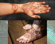 Two pics with paste off.  Crimson Art Henna