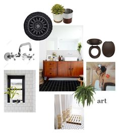 """""""Small Bathroom"""" by zsjd on Polyvore featuring interior, interiors, interior design, home, home decor, interior decorating, The Beach People, Paradigm and bathroom"""