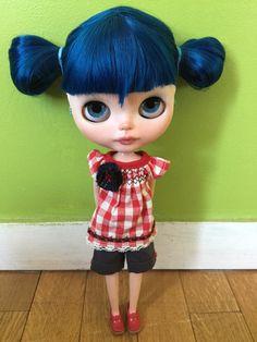 Blue, blythe ooak custom doll
