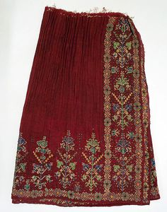 popular folk embroidery Skirt Date: early century Culture: Romanian Medium: wool - Folk Embroidery, Embroidery Patterns, Costume Institute, Folk Costume, Textiles, Historical Clothing, Metropolitan Museum, Designer Dresses, Fashion Outfits
