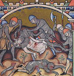 Em 1179, durante uma batalha, o rei Balduíno IV caiu da montaria e, impossibilitado de voltar a montar, foi carregado nas costas por outro cruzado.
