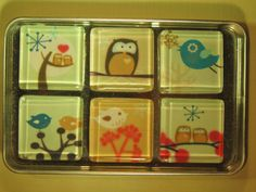 Fridge Magnets  Owl Refrigerator Magnets Set of 6 by DLRjewelry