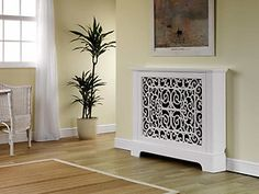 Marlow radiator cover / cabinet satin white  finish, feature cast iron grille | eBay £129